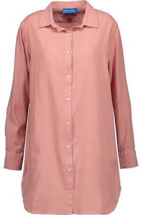 M.I.H JEANS Linen and cotton-blend gauze shirt