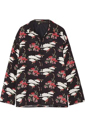 MOTHER OF PEARL Chester embellished printed silk-georgette blouse