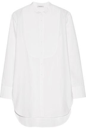 PROTAGONIST Bib-front cotton-poplin tunic