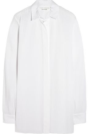 VICTORIA BECKHAM Pleated poplin shirt
