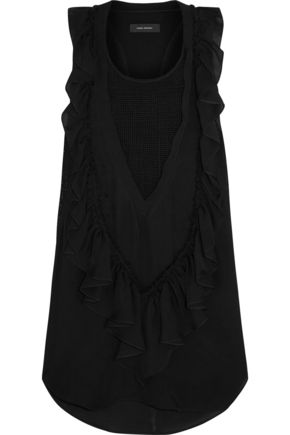 ISABEL MARANT Russel ruffled silk-chiffon top