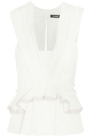 ISABEL MARANT Grayton ruffled cotton-gauze top