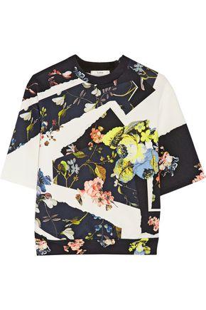 ERDEM Kia floral-print stretch-neoprene top