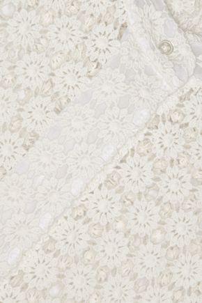 JOSEPH Crail guipure lace blouse
