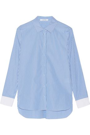 CARVEN Striped cotton-poplin shirt