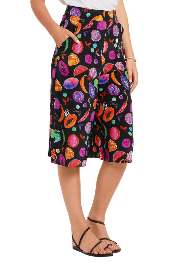 We Liming printed silk crepe de chine culottes   MATTHEW WILLIAMSON   Sale  up to 70% off   THE OUTNET
