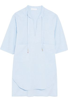 STELLA McCARTNEY Embellished cotton-chambray coverup