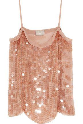LANVIN Paillette-embellished silk-georgette camisole