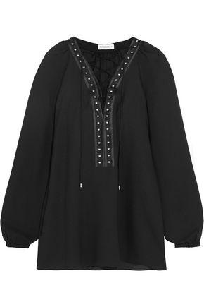 ALTUZARRA Yuba embellished crepe de chine blouse
