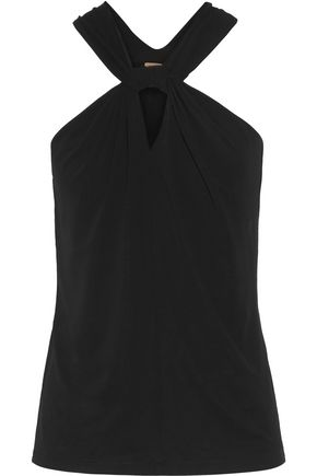 MICHAEL KORS COLLECTION Twist-front stretch-jersey top