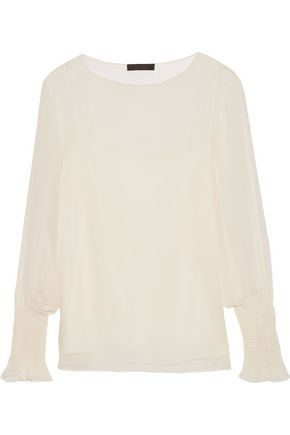 THE ROW Laver crinkled silk-chiffon blouse