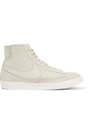 NIKE Blazer Mid suede and shearling high-top sneakers