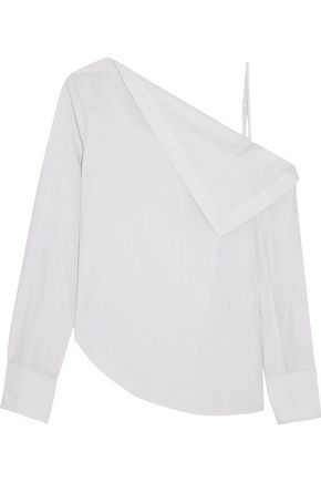DION LEE Axis one-shoulder cotton top
