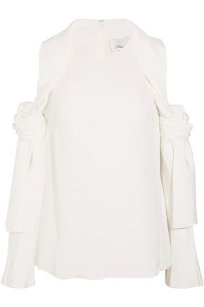 3.1 PHILLIP LIM Cutout silk-satin top
