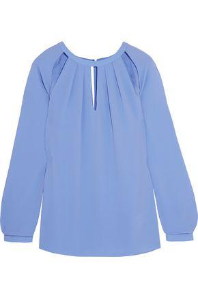 MICHAEL MICHAEL KORS Cutout gathered crepe blouse