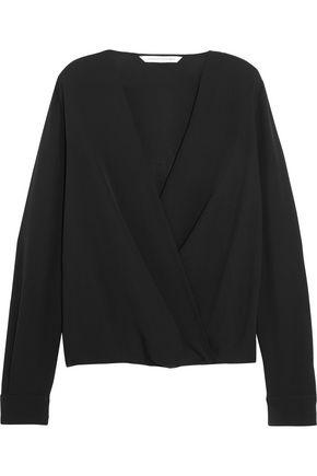 DIANE VON FURSTENBERG Marci wrap-effect silk-crepe blouse