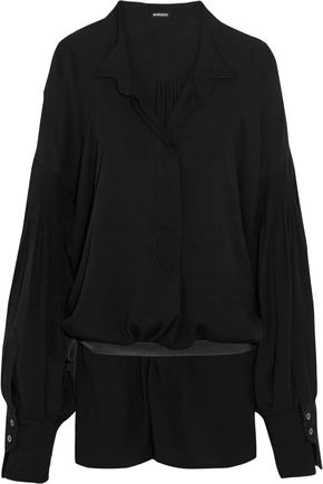 ANN DEMEULEMEESTER Oversized belted voile blouse