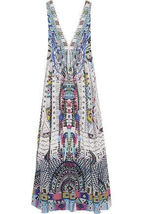 CAMILLA Maasai Mosh crystal-embellished printed silk crepe de chine maxi dress