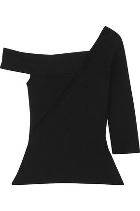 ROLAND MOURET Anton asymmetric stretch-knit top