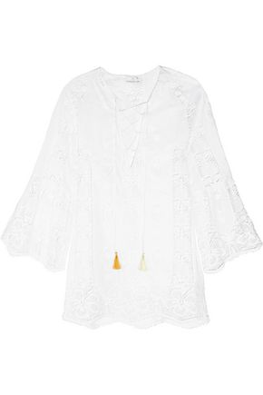 MIGUELINA Karla crocheted cotton coverup