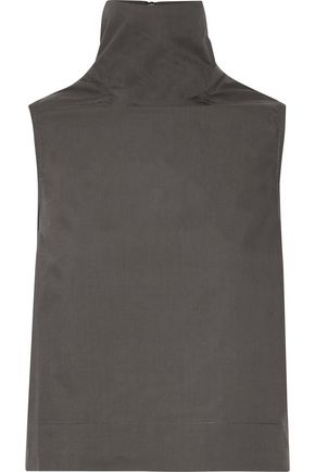 RICK OWENS Cotton-poplin turtleneck top