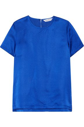 MAX MARA Emilia hammered silk-satin top