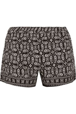 MADEWELL Foulard paisley-print voile shorts