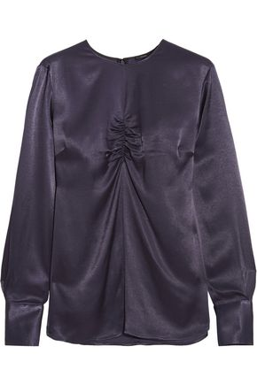 JOSEPH Eugene ruched satin top
