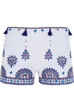 TALITHA Nisa embroidered cotton shorts