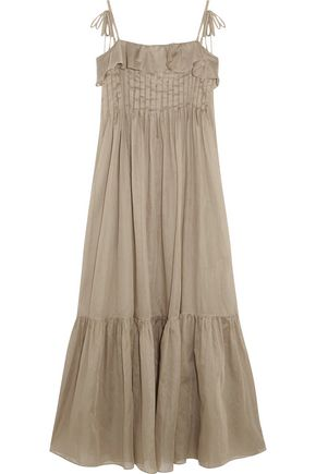 THREE GRACES LONDON Tybalt cotton-mousseline maxi dress