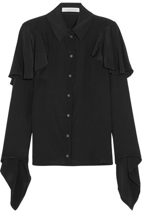 J.W.ANDERSON Ruffled crepe de chine blouse
