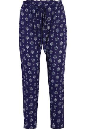 EBERJEY Buena Vista Hudson printed voile tapered pants
