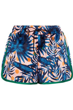 SJYP Printed satin shorts