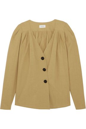 LEMAIRE Gathered cotton-voile blouse