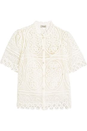 TEMPERLEY LONDON Titania guipure cotton-lace blouse