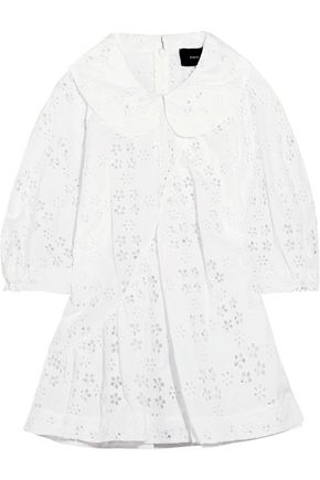 SIMONE ROCHA Broderie anglaise cotton-blend blouse