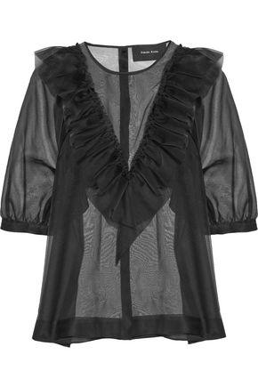 SIMONE ROCHA Ruffled silk-organza blouse