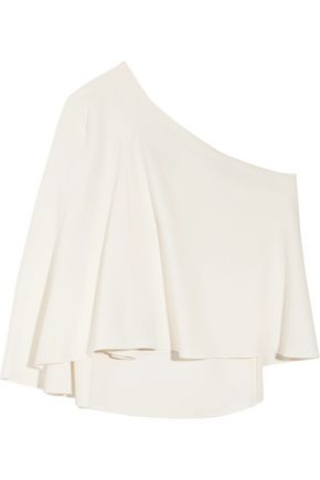 ROLAND MOURET Hurley one-shoulder crepe top
