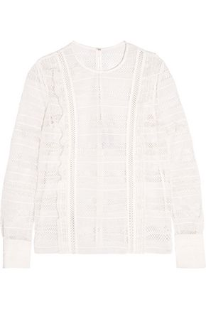 SEE BY CHLOÉ Ruffled guipure lace blouse