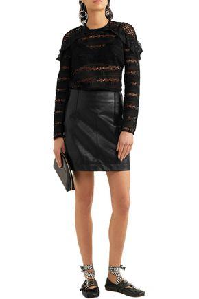 SELF-PORTRAIT Ruffled guipure lace blouse