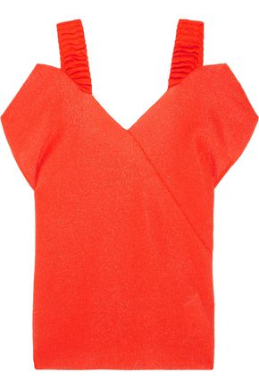VICTORIA BECKHAM Off-the-shoulder stretch-knit top