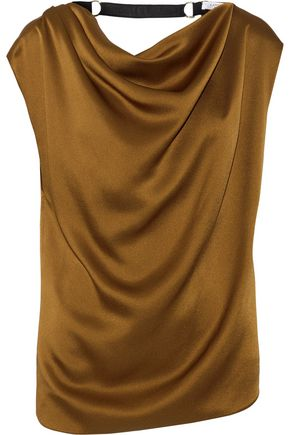LANVIN Embellished draped satin top