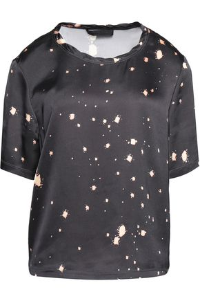 ALEXANDER WANG Printed satin T-shirt