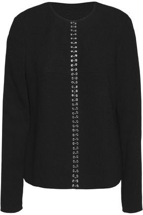 ALEXANDER WANG Embellished crepe top