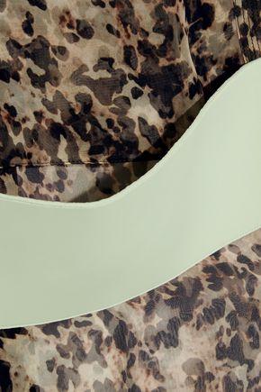 GIVENCHY Printed silk-chiffon blouse