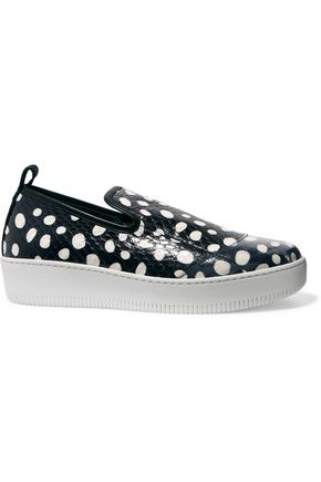 McQ Alexander McQueen Polka-dot elaphe slip-on sneakers