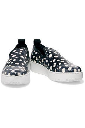 McQ Alexander McQueen Polka-dot elaphe slip-on sneakers