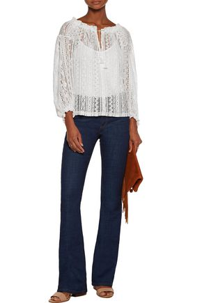 MAJE Cotton-blend corded lace top