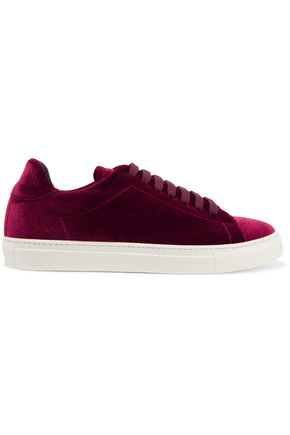 IRIS AND INK Joey velvet sneakers