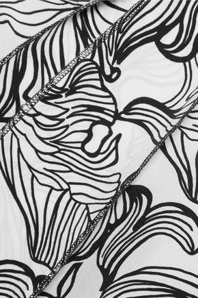 OSCAR DE LA RENTA Printed silk top